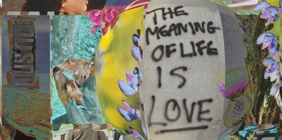 Fabiola Nabil Naguib, Archives Re/Imagined (1 of 4 in Series II), The Meaning of Life is Love, mixed media, varied dimensions, 2020